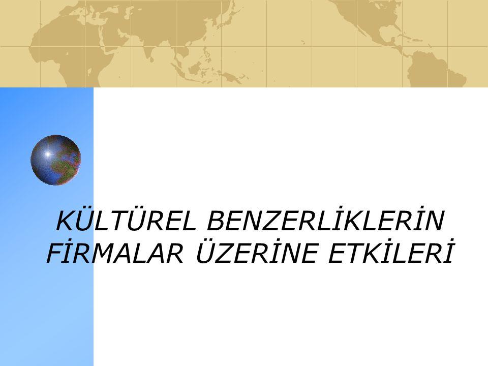 KÜLTÜREL BENZERLİKLERİN FİRMALAR ÜZERİNE ETKİLERİ