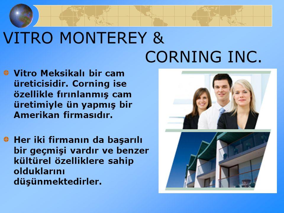 VITRO MONTEREY & CORNING INC. Vitro Meksikalı bir cam üreticisidir. Corning ise özellikle fırınlanmış cam üretimiyle ün yapmış bir Amerikan firmasıdır