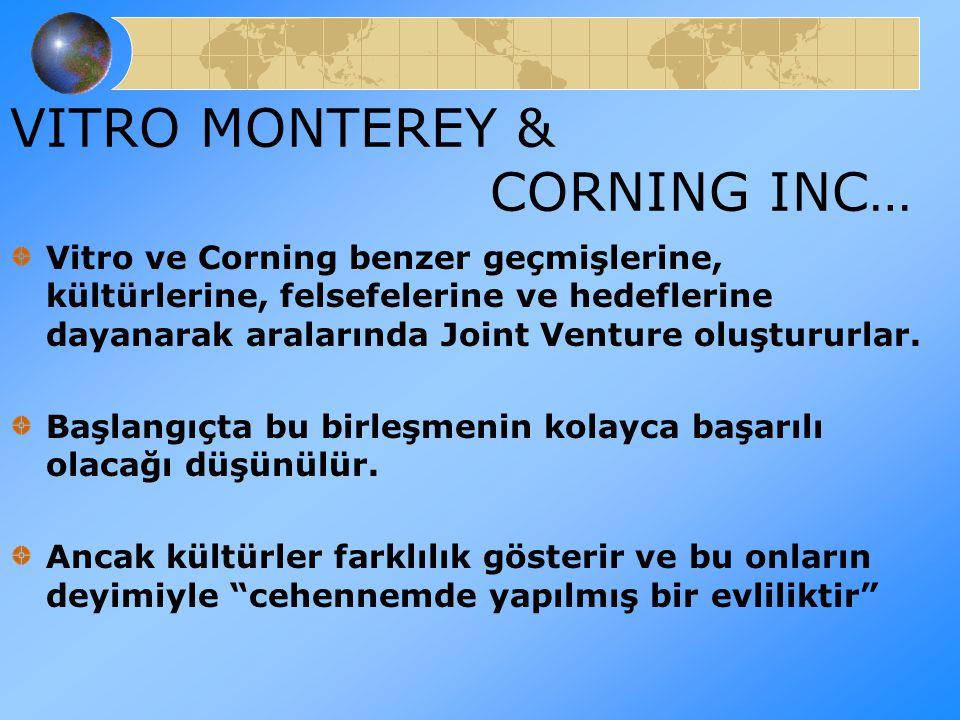 Vitro ve Corning benzer geçmişlerine, kültürlerine, felsefelerine ve hedeflerine dayanarak aralarında Joint Venture oluştururlar. Başlangıçta bu birle