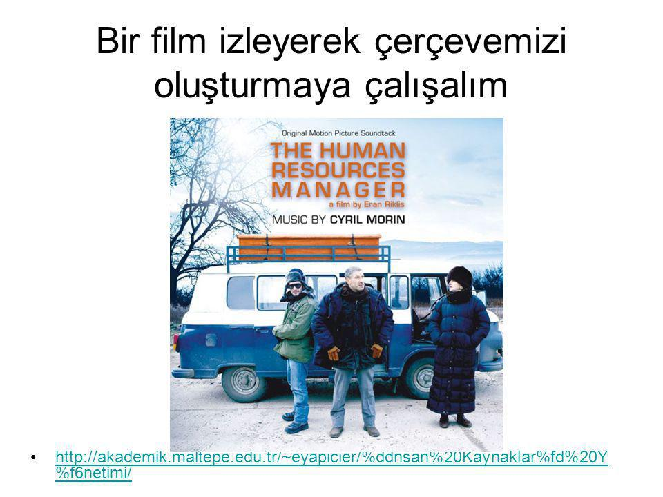 Bir film izleyerek çerçevemizi oluşturmaya çalışalım http://akademik.maltepe.edu.tr/~eyapicier/%ddnsan%20Kaynaklar%fd%20Y %f6netimi/http://akademik.maltepe.edu.tr/~eyapicier/%ddnsan%20Kaynaklar%fd%20Y %f6netimi/