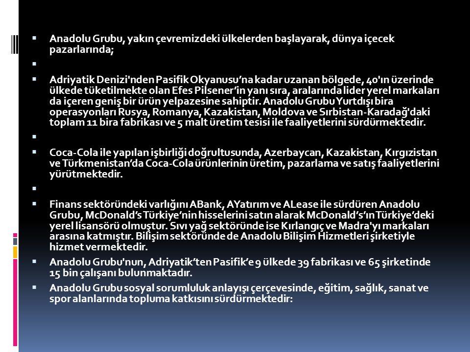 ANADOLU EĞİTİM VE SOSYAL YARDIM VAKFI  1979 yılında İstanbul da kurulan Anadolu Eğitim ve Sosyal Yardım Vakfı, bugüne kadar eğitim, sağlık ve sosyal alanlarda 43 eseri ülkemize kazandırmış olmanın yanı sıra her yıl yaklaşık 750 öğrenciye karşılıksız burs vermektedir.