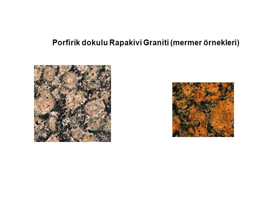 Porfirik dokulu Rapakivi Graniti (mermer örnekleri)