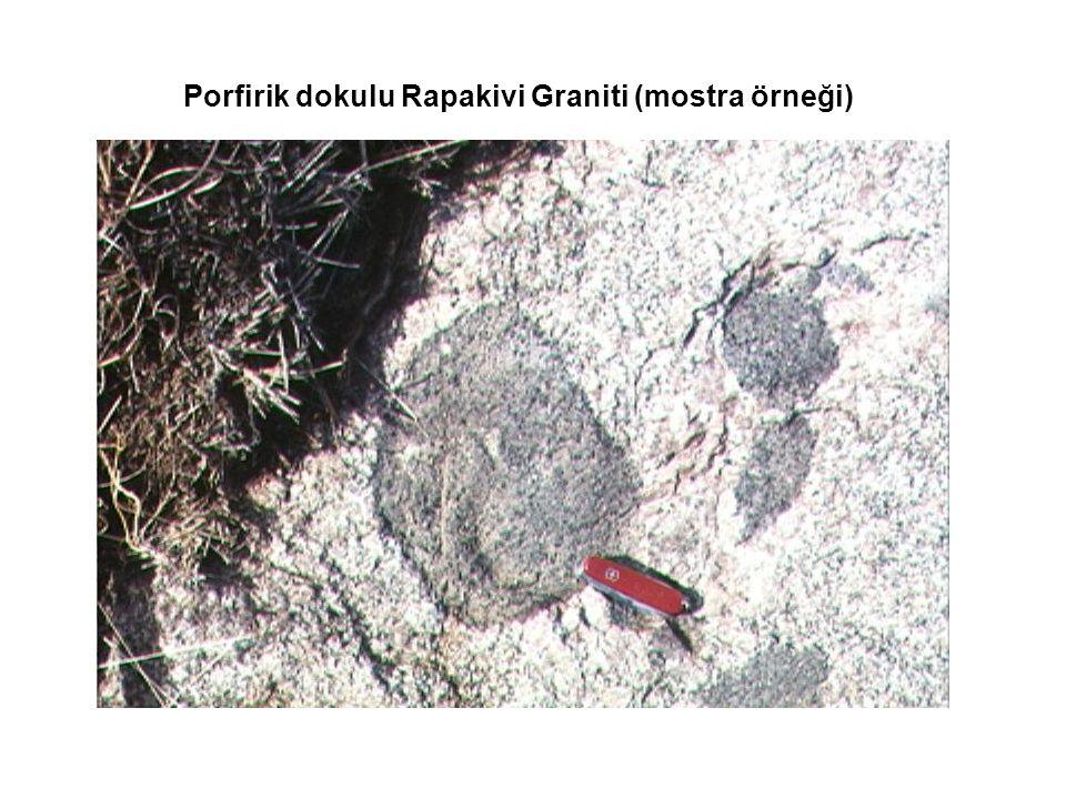 Porfirik dokulu Rapakivi Graniti (mostra örneği)