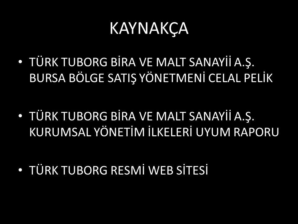 KAYNAKÇA TÜRK TUBORG BİRA VE MALT SANAYİİ A.Ş.