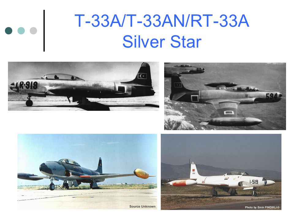 T-33A/T-33AN/RT-33A Silver Star