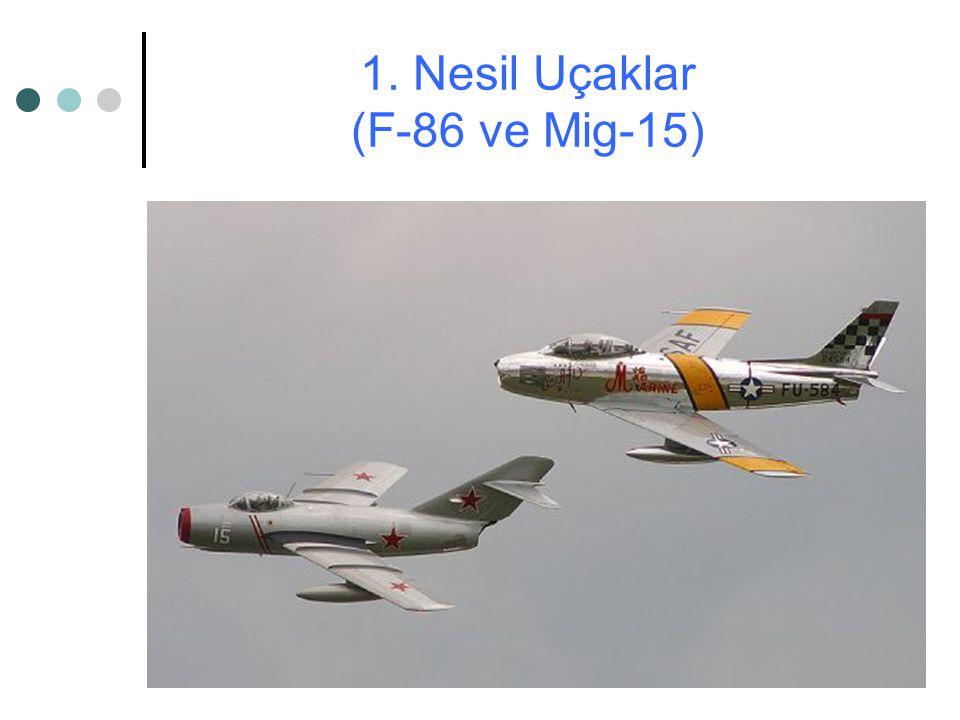 1. Nesil Uçaklar (F-86 ve Mig-15)
