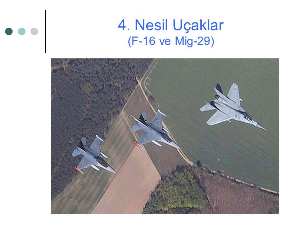 4. Nesil Uçaklar (F-16 ve Mig-29)