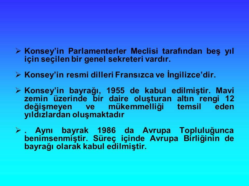  Konsey'in Parlamenterler Meclisi tarafından beş yıl için seçilen bir genel sekreteri vardır.  Konsey'in resmi dilleri Fransızca ve İngilizce'dir. 
