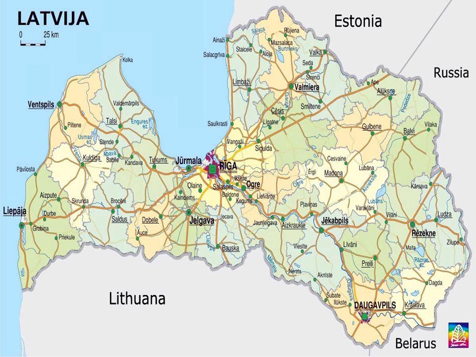  Resmi Adı : Letonya Cumhuriyeti  Yönetim Şekli : Parlamenter Demokrasi  Başkent : Riga  Yüzölçümü :64.