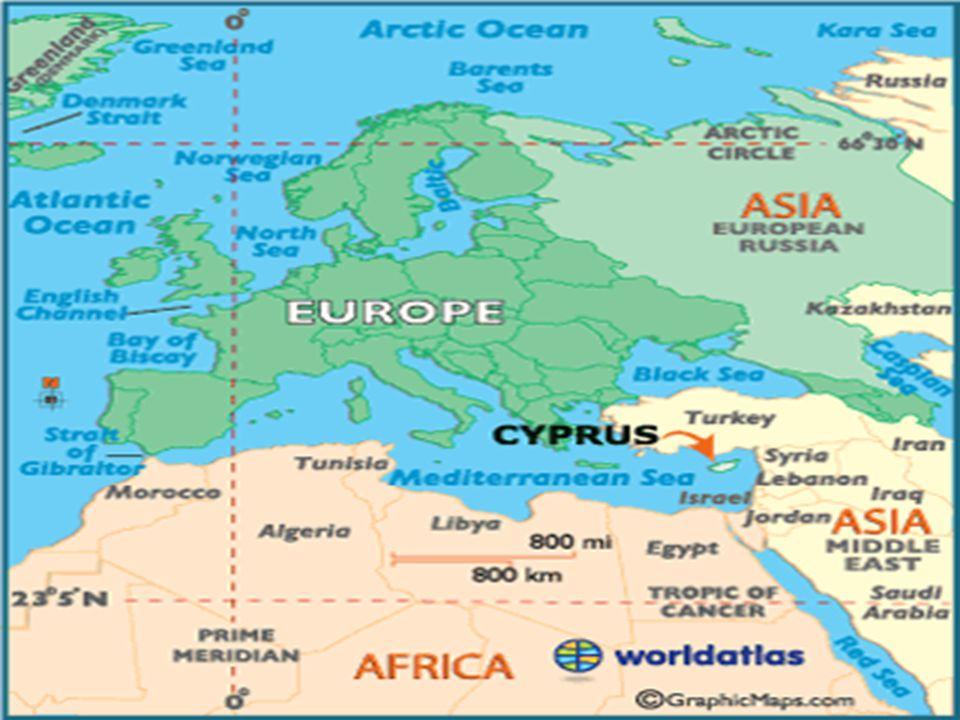 Ülke adı: Geleneksel uzun şekil: Kıbrıs Cumhuriyeti Bilinen resmi kısa adı: Kıbrıs Coğrafi Konumu : Kıbrıs Adası, İtalya ya bağlı Sardinya ve Sicilya adalarından sonra Akdeniz in en büyük üçüncü adasıdır.
