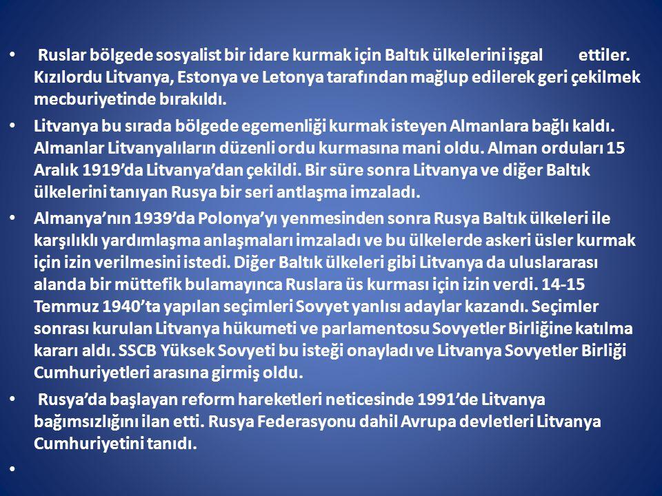 Türkiye ile Litvanya arasındaki ikili ticaret hacmi, 2011 yılında 422 milyon ABD doları (ihracat 274 milyon, ithalat 148 milyon), 2012 yılında ise 494 milyon ABD doları olmuştur (ihracat 276 milyon, ithalat 218 milyon).
