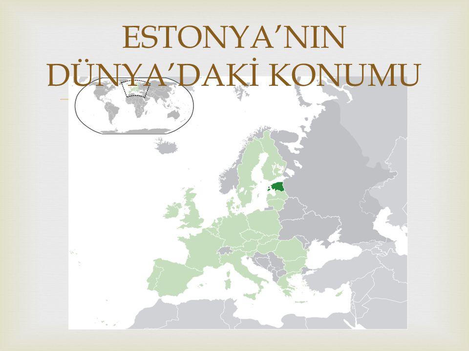   TALLİNN(başkent)  TARTU  NARVA  KOHTLA-JARVE  PARNU Önemli Şehirleri