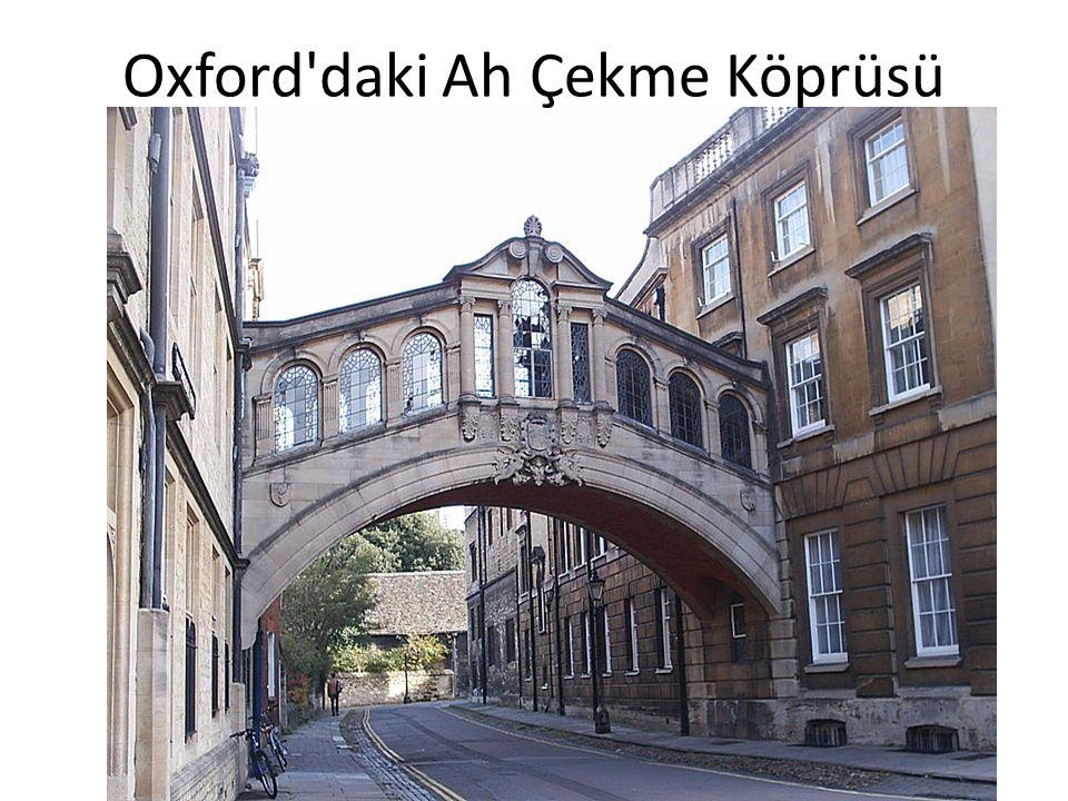 Oxford'daki Ah Çekme Köprüsü