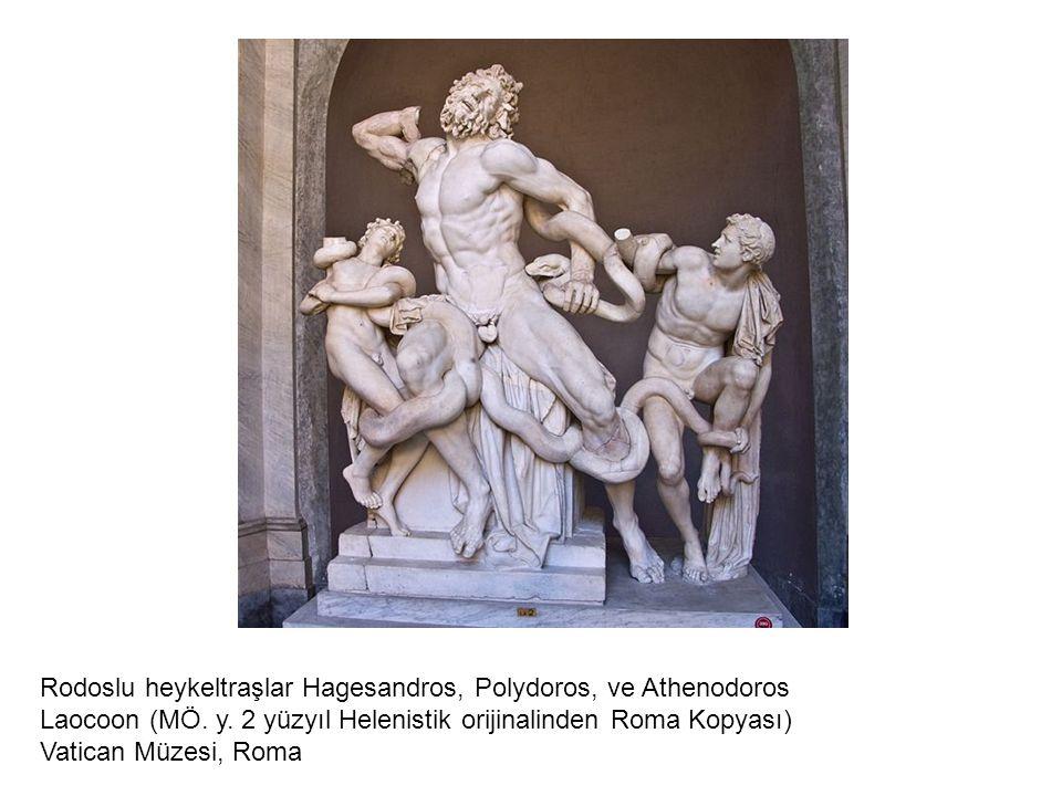 Rodoslu heykeltraşlar Hagesandros, Polydoros, ve Athenodoros Laocoon (MÖ. y. 2 yüzyıl Helenistik orijinalinden Roma Kopyası) Vatican Müzesi, Roma