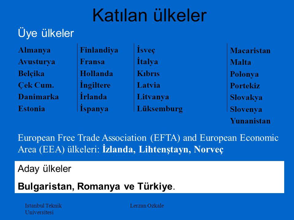 Istanbul Teknik Universitesi Lerzan Ozkale Katılan ülkeler Finlandiya Fransa Hollanda İngiltere İrlanda İspanya Macaristan Malta Polonya Portekiz Slov