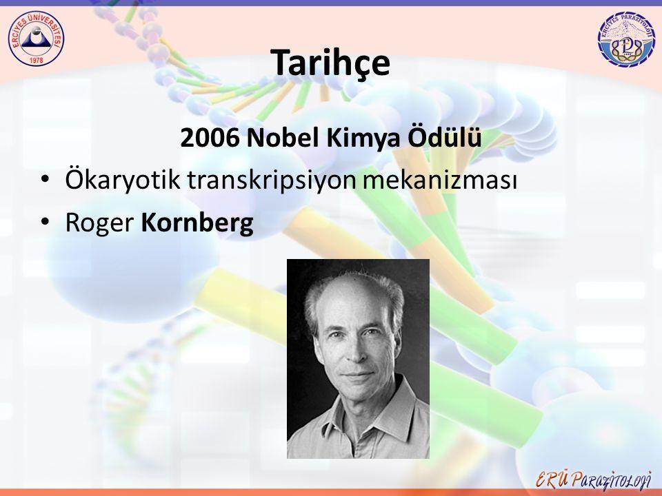 Tarihçe 2006 Nobel Kimya Ödülü Ökaryotik transkripsiyon mekanizması Roger Kornberg