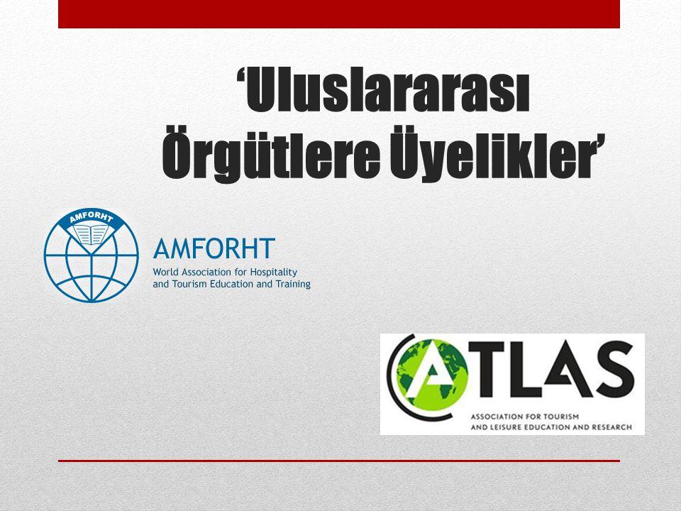 'Uluslararası Örgütlere Üyelikler'