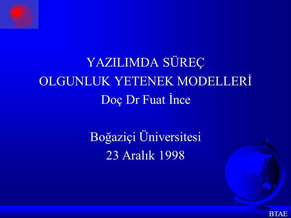 BTAE YETENEK DÜZEYLERİ 0.Eksik (incomplete) düzey 1.