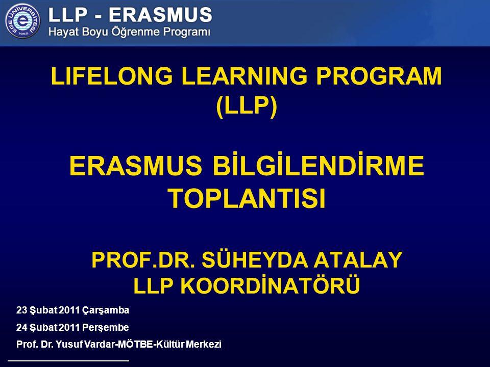 LIFELONG LEARNING PROGRAM (LLP) ERASMUS BİLGİLENDİRME TOPLANTISI PROF.DR.