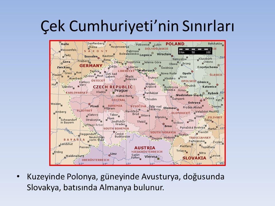 Çek Cumhuriyeti'nin Sınırları Kuzeyinde Polonya, güneyinde Avusturya, doğusunda Slovakya, batısında Almanya bulunur.
