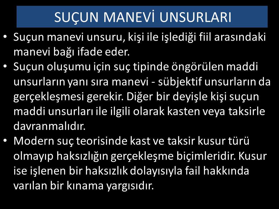 KAST KAVRAMI VE UNSURLARI Kast, Türk Ceza Kanununda tanımlanmış olup, unsurları bu tanımda belirtilmiştir: Kast Madde 21- (1) Suçun oluşması kastın varlığına bağlıdır.