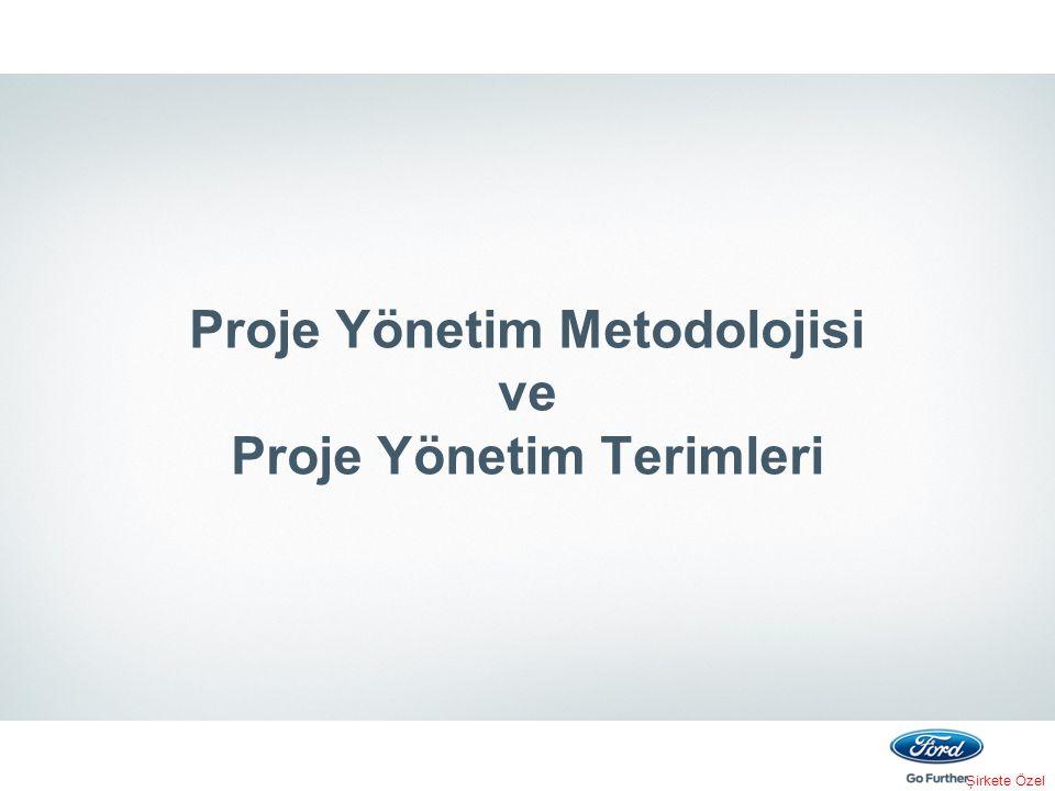 Şirkete Özel Proje Yönetim Metodolojisi ve Proje Yönetim Terimleri