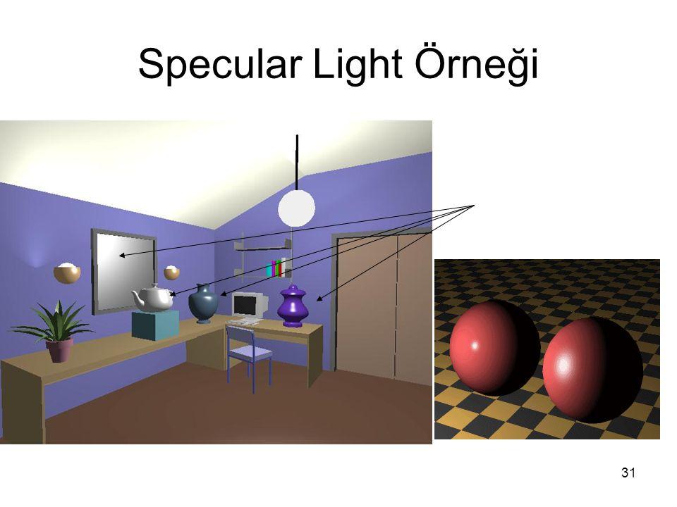 31 Specular Light Örneği