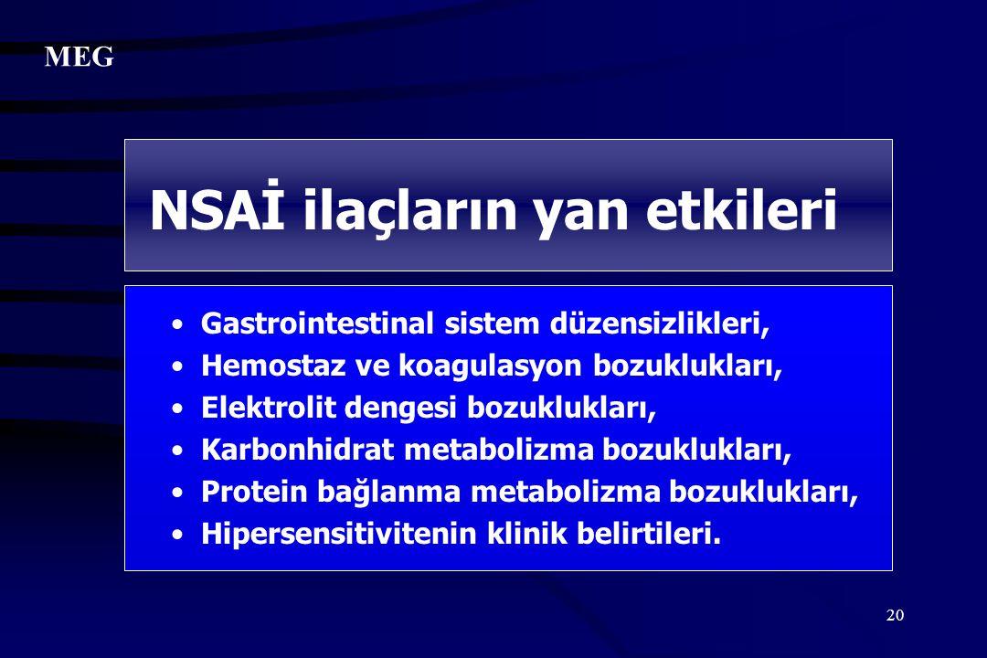 20 Gastrointestinal sistem düzensizlikleri, Hemostaz ve koagulasyon bozuklukları, Elektrolit dengesi bozuklukları, Karbonhidrat metabolizma bozuklukla