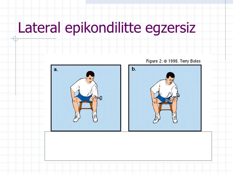 Lateral epikondilitte egzersiz