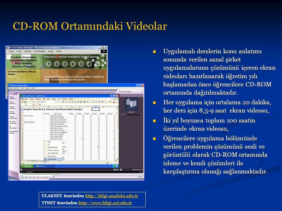 Uygulamalı derslerin konu anlatımı sonunda verilen sanal şirket uygulamalarının çözümünü içeren ekran videoları hazırlanarak öğretim yılı başlamadan ö