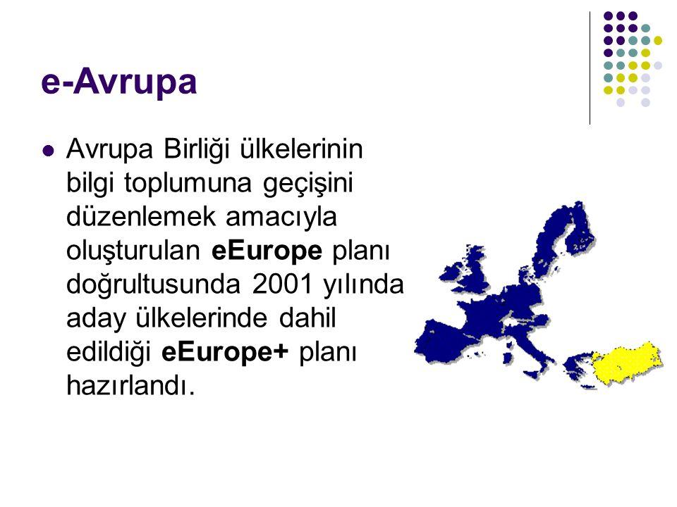 e-Avrupa Avrupa Birliği ülkelerinin bilgi toplumuna geçişini düzenlemek amacıyla oluşturulan eEurope planı doğrultusunda 2001 yılında aday ülkelerinde