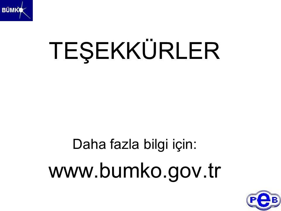 TEŞEKKÜRLER Daha fazla bilgi için: www.bumko.gov.tr
