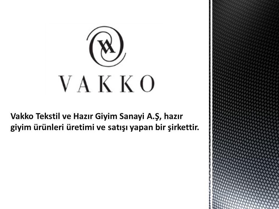 Vakko Tekstil ve Hazır Giyim Sanayi A.Ş, hazır giyim ürünleri üretimi ve satışı yapan bir şirkettir.