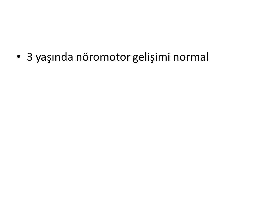 3 yaşında nöromotor gelişimi normal