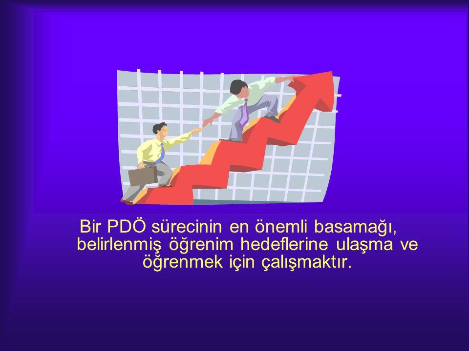 Bir PDÖ sürecinin en önemli basamağı, belirlenmiş öğrenim hedeflerine ulaşma ve öğrenmek için çalışmaktır.