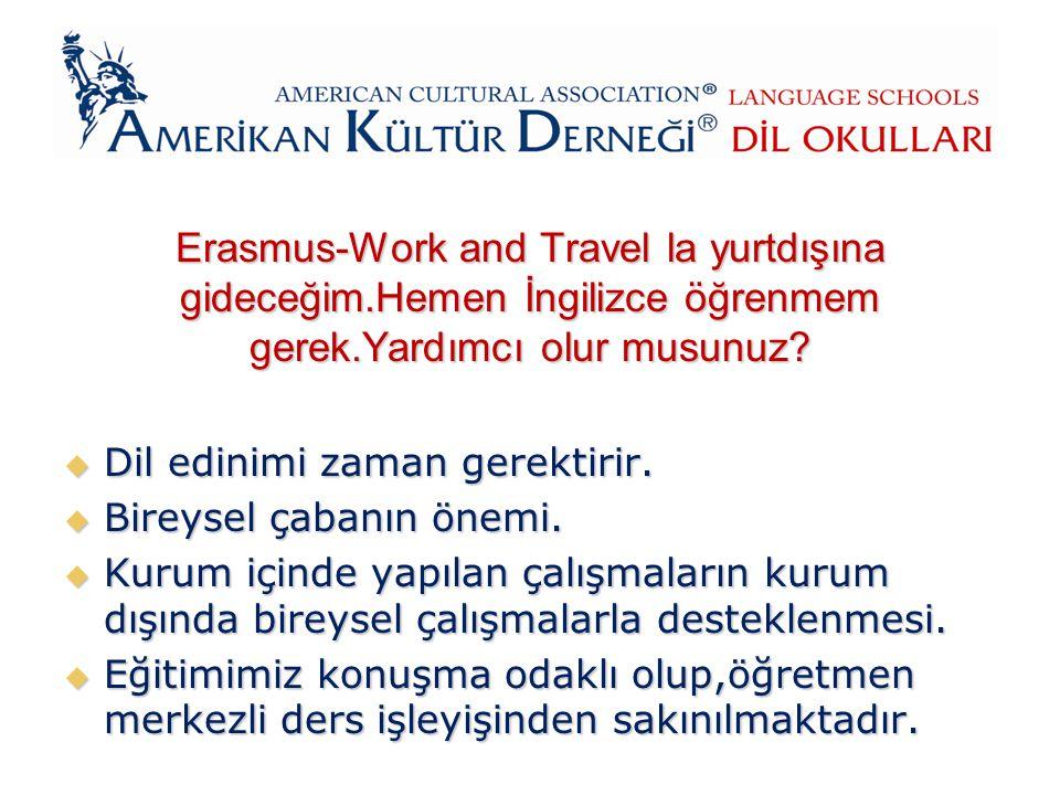Erasmus-Work and Travel la yurtdışına gideceğim.Hemen İngilizce öğrenmem gerek.Yardımcı olur musunuz.