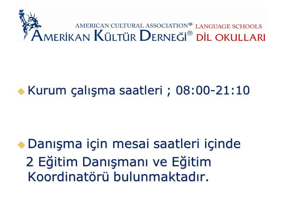 KURUM HAKKINDA  Amerikan Kültür Derneği Dil Okulları, 113 şubesiyle Türkiye'nin ve Avrupa'nın en yaygın dil okuludur.