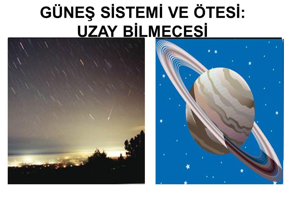 Bu üniteyi tamamladığınızda; Uzayda bulunan gök cisimlerini, Güneş sistemimizdeki gezegenleri, Uzay gözlemlerinin yapılmasına olanak sağlayan optik araçları, Ay'daki ilk adımlardan başlayarak günümüze kadar yapılan uzay araştırmalarını, Gök bilimcilerin ne ile uğraştıklarını ve ünlü Türk gök bilimcilerini, Uzay kirliliğinin sebeplerini ve olası sonuçlarını; gözlem, deney, araştırma, proje ve poster gibi etkinlikler yardımıyla öğreneceksiniz.