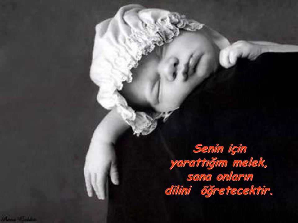Senin için yarattığım melek, sana onların dilini öğretecektir.