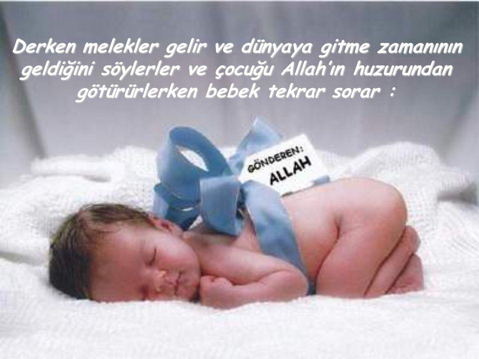 Allah'ım benim için yarattığın meleğin adı ne?