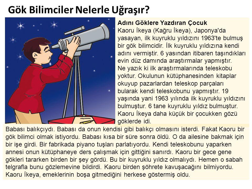 Gök Bilimciler Nelerle Uğraşır? Adını Göklere Yazdıran Çocuk Kaoru İkeya (Kağru İkeya), Japonya'da yasayan, ilk kuyruklu yıldızını 1963'te bulmuş bir