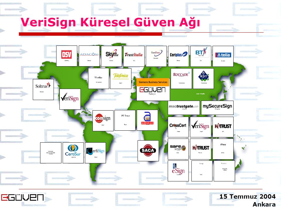 VeriSign Küresel Güven Ağı Advanced Security Systems Mexico ArgentinaBrazil Japan Korea Taiwan HK India China iTrus Philippines Australia Asia - Pacif
