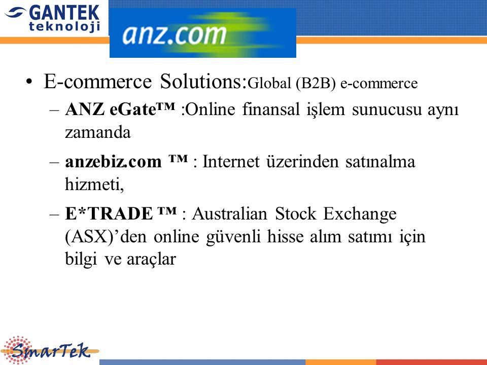 E-commerce Solutions: Global (B2B) e-commerce –ANZ eGate™ :Online finansal işlem sunucusu aynı zamanda –anzebiz.com ™ : Internet üzerinden satınalma h