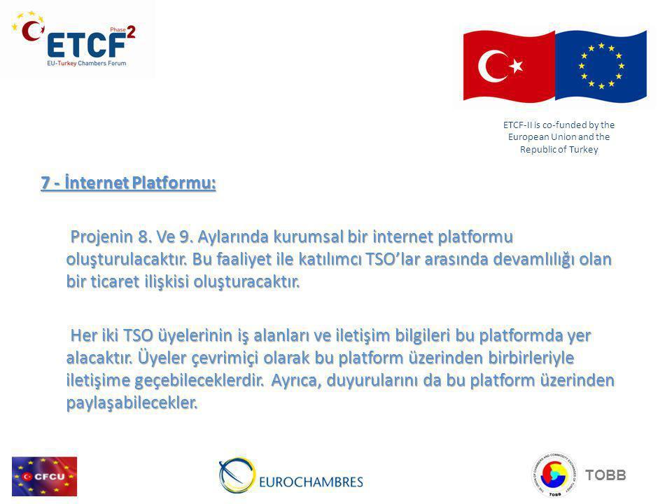 7 - İnternet Platformu: Projenin 8.Ve 9.