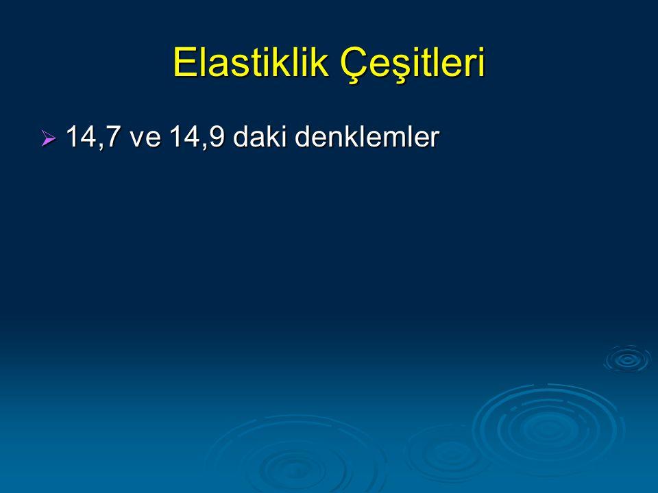 Elastiklik Çeşitleri  14,7 ve 14,9 daki denklemler