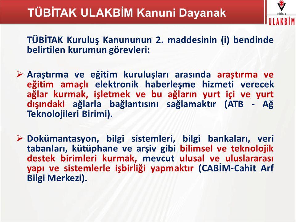TÜBİTAK Herhangi bir bilgi kaynağını Türkiye'deki Tüm Kütüphanelerde aramak Ulusal Toplu Katalog
