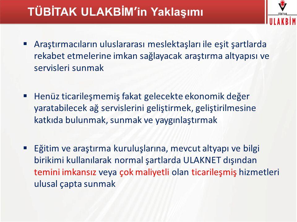 TÜBİTAK  Ulusal akademik ağ üzerinden araştırmacıların bilimsel içeriğe erişimini yaygınlaştırmak,  Uluslararası ve ulusal bilimsel yayın üretiminin ve bu yolla Türkiye'nin bilimsel çalışmalarda rekabet gücünün artırılması,  Akademik kurumlar ve araştırmacılar arasında bilimsel bilgiye erişimde fırsat eşitliği yaratmak.