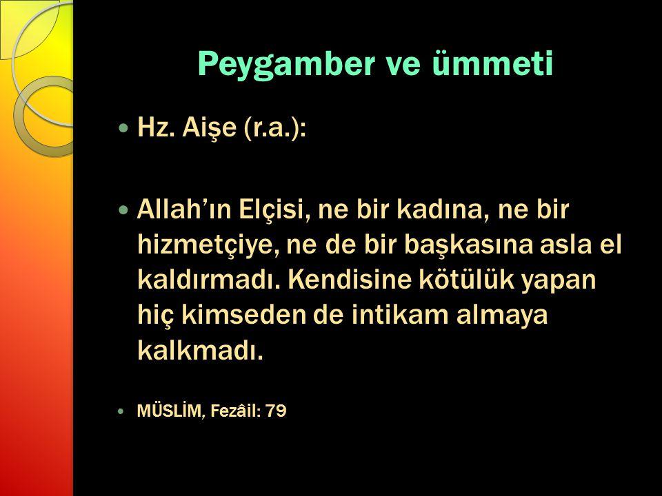 Peygamber ve ümmeti Hz.