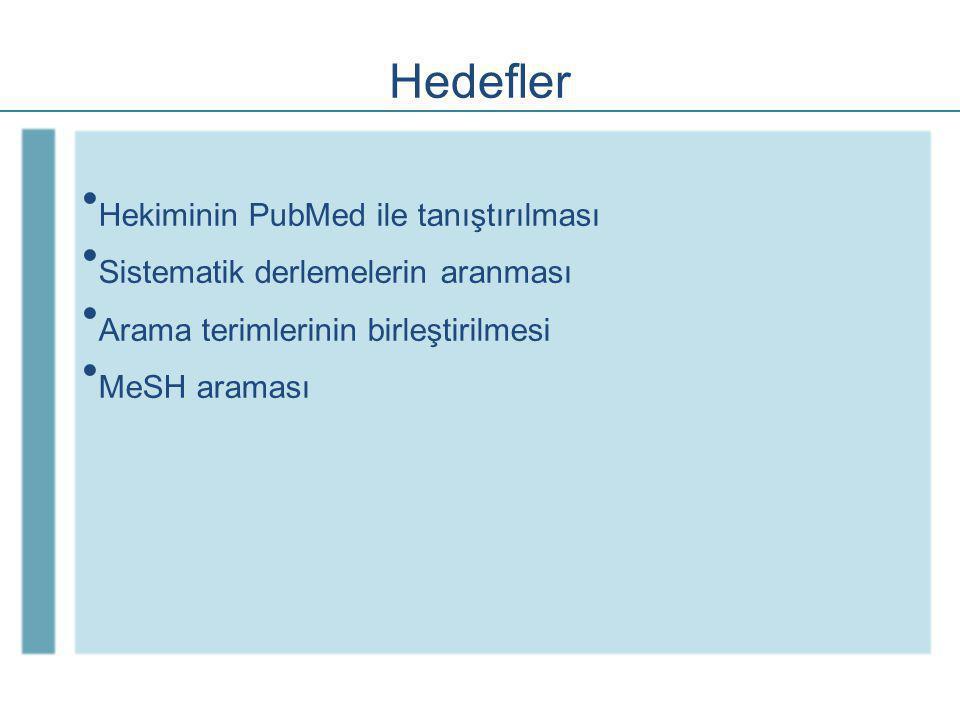 PubMed Klinik Sorgular Klinik Sorgular