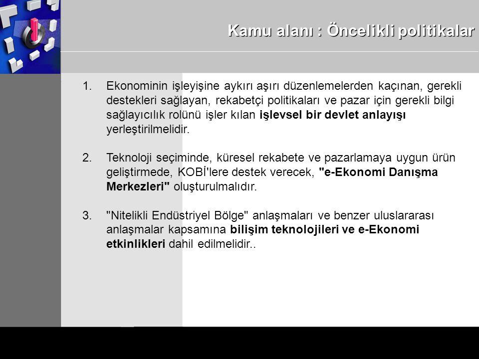 Kamu alanı : Öncelikli politikalar 1.